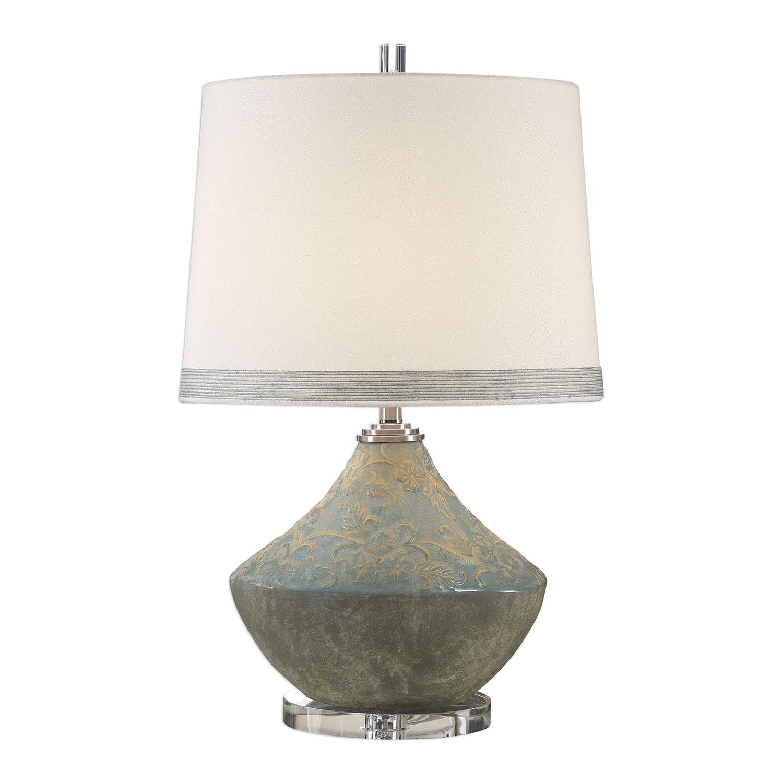 Uttermost Padova Lamp - Aged Light Blue