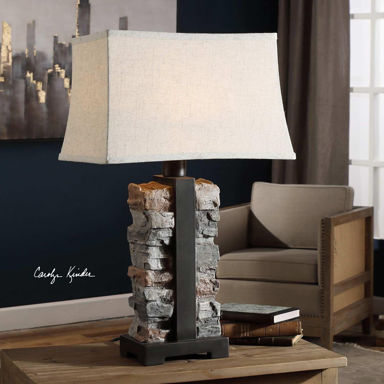 Uttermost Kodiak Lamp - Stacked Stone