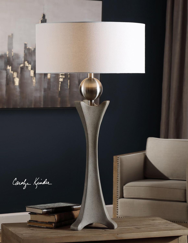 Uttermost Haver Shaped Concrete Lamp