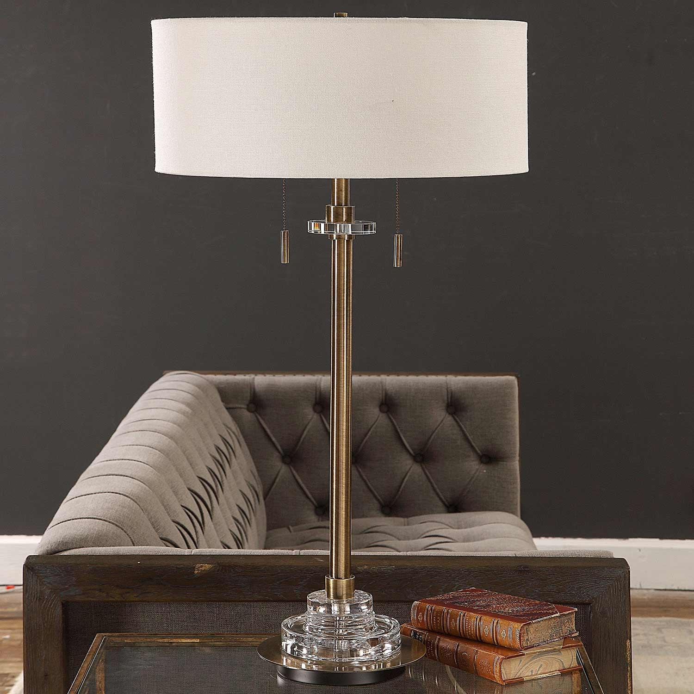 Uttermost Harlyn Lamp - Antique Brass