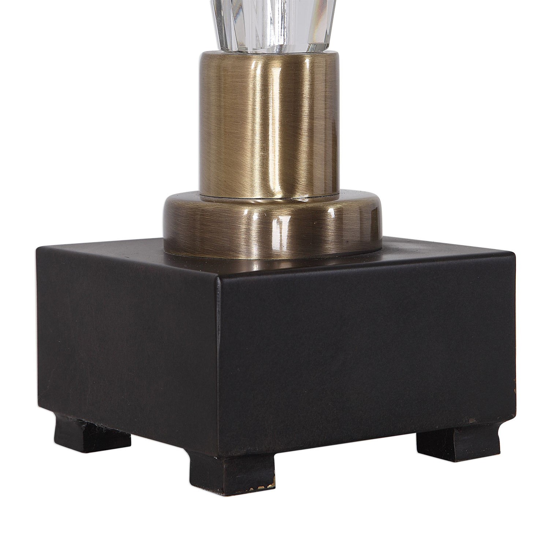 Uttermost Cora Geometric Crystal Table Lamp