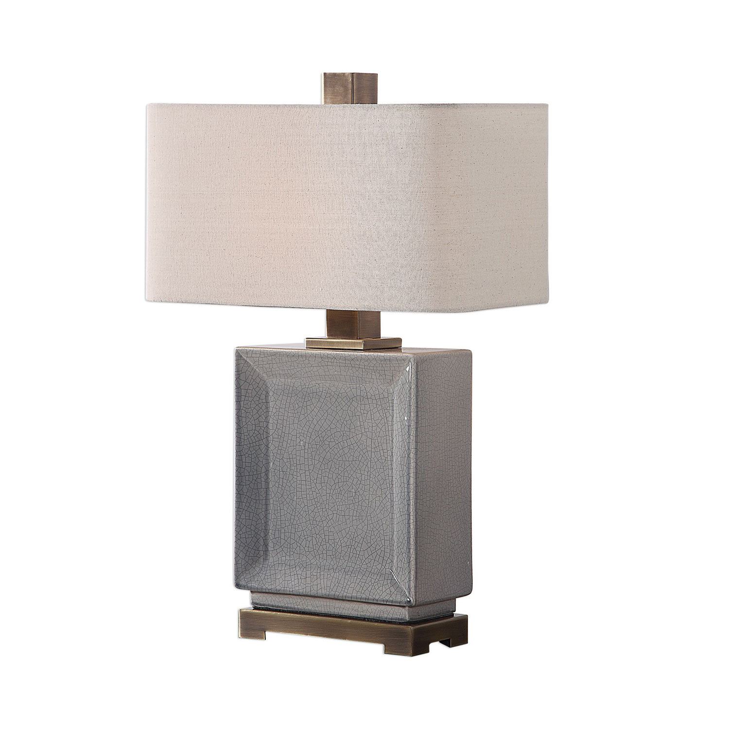 Uttermost Abbot Table Lamp - Crackled Gray