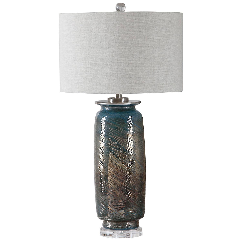 Uttermost Olesya Table Lamp - Swirl Glass