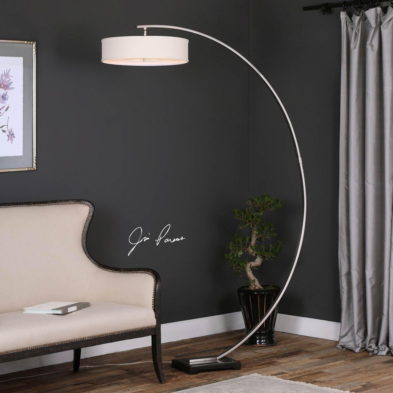 Uttermost Tagus Nickel Arc Floor Lamp