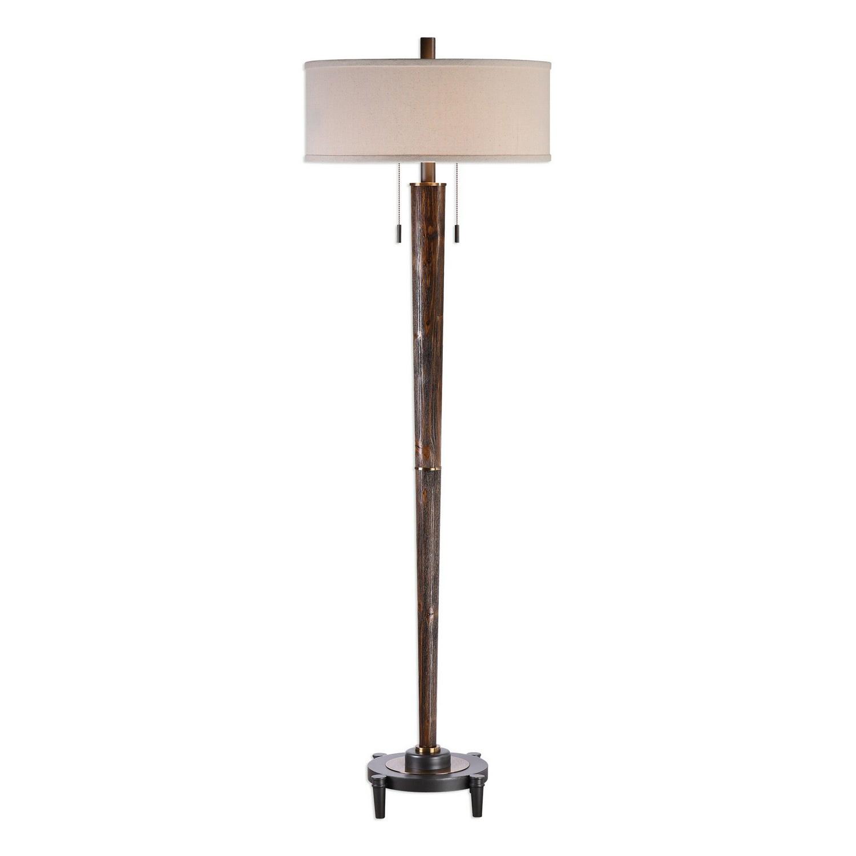 Uttermost Rhett Floor Lamp - Burnished Oak