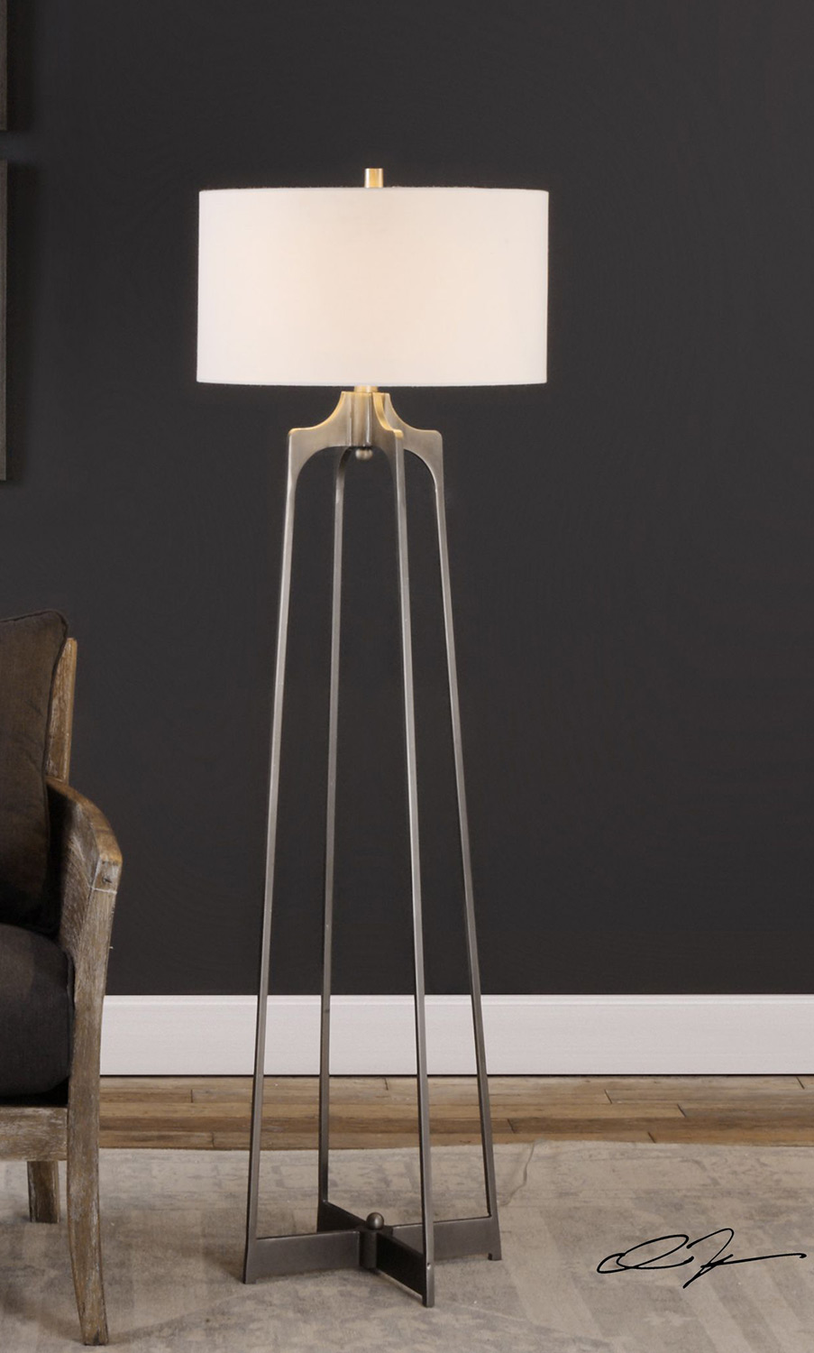 Uttermost Adrian Modern Floor Lamp Uttermost 28131 At