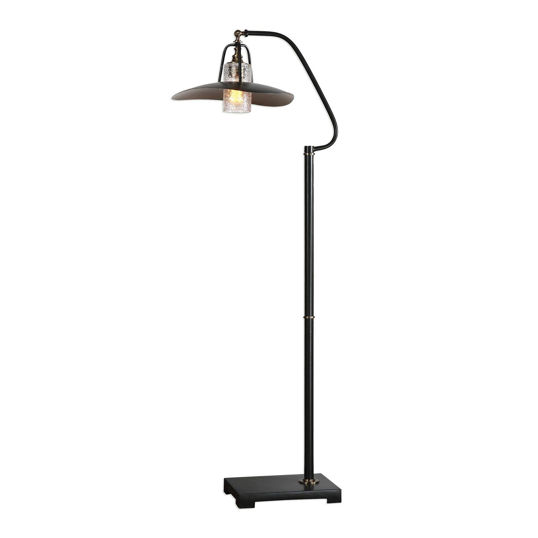 Uttermost Arkutino Floor Lamp - Black Iron