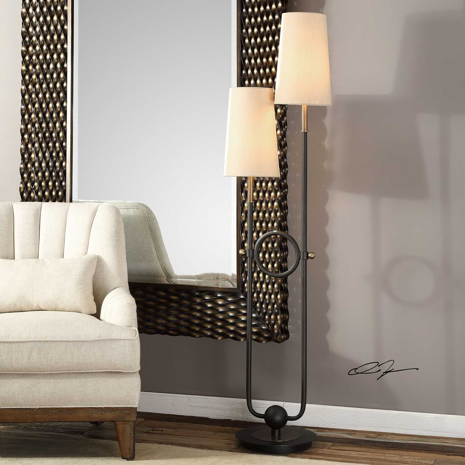 Uttermost Riano 2-Arm and 2-Light Floor Lamp