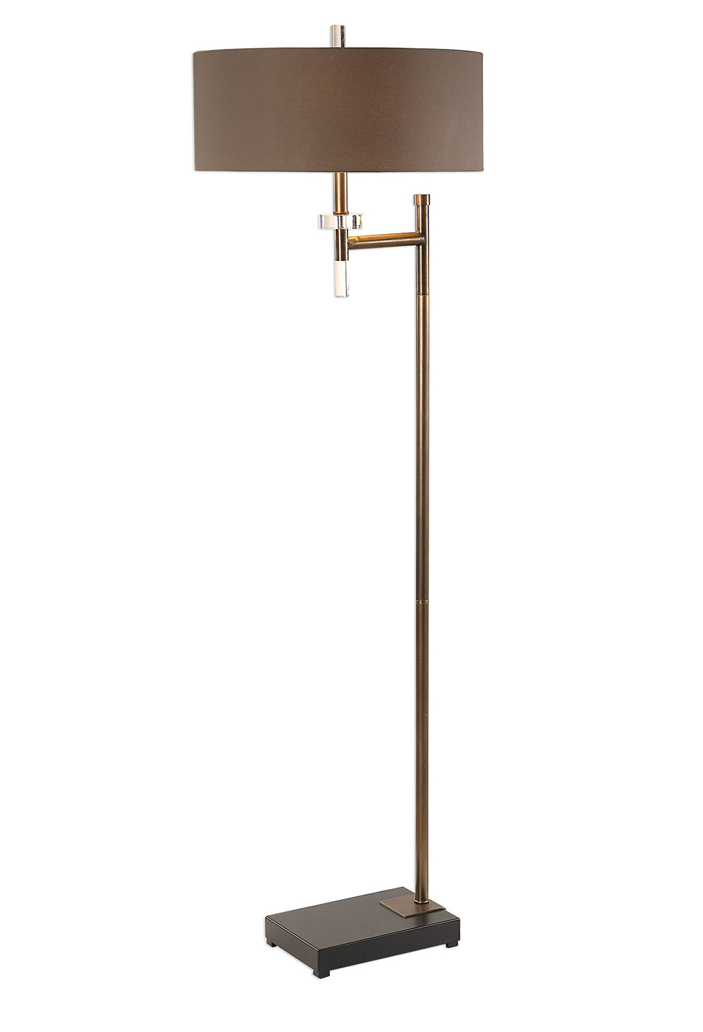 Uttermost Oletha Floor Lamp - Dark Bronze