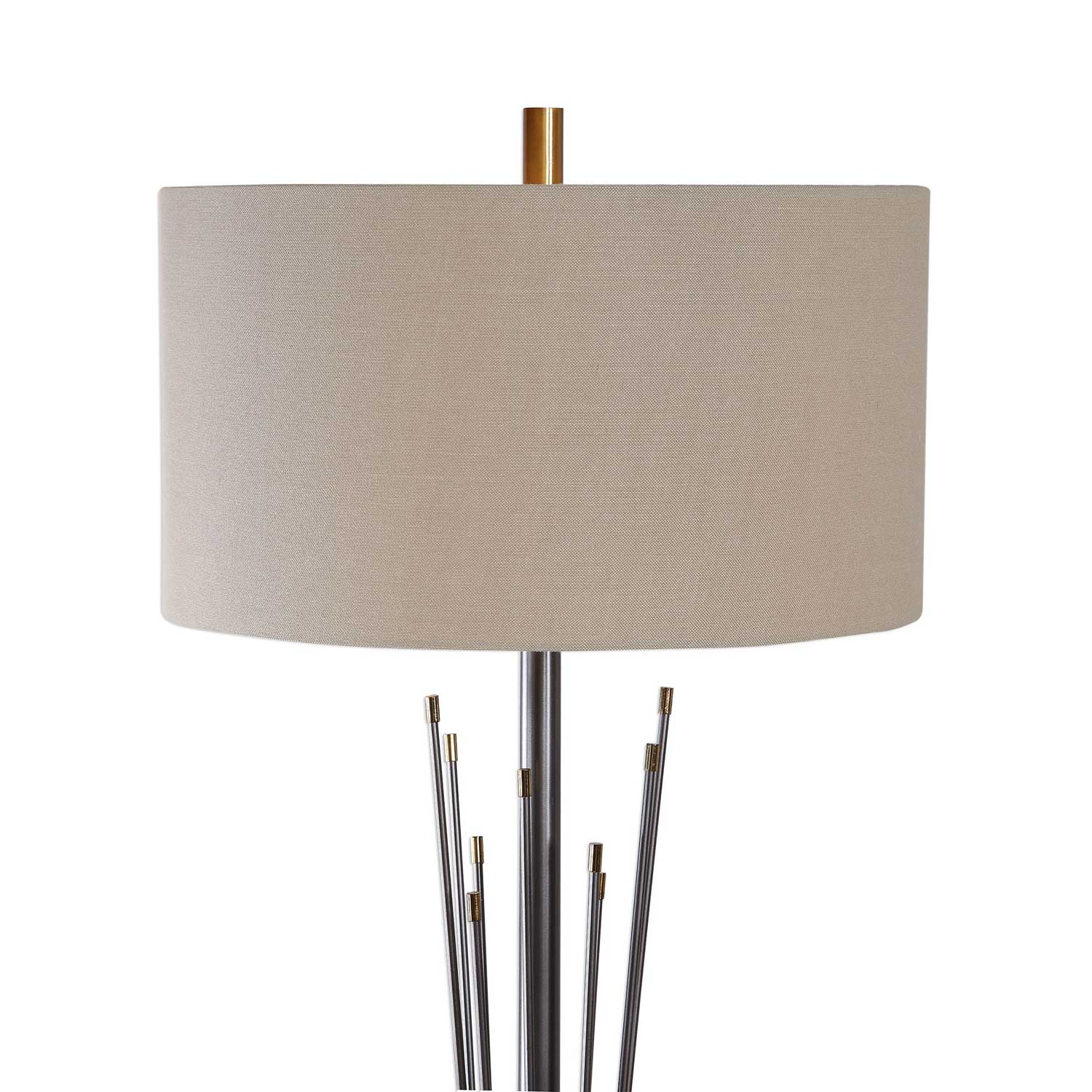 Uttermost Poloma Steel Rods Floor Lamp