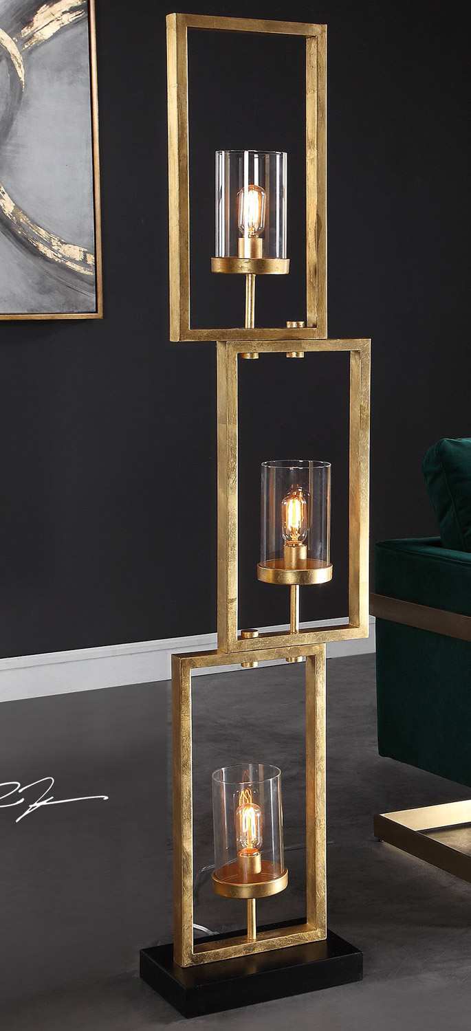 Uttermost Cielo Staggered Rectangles Floor Lamp