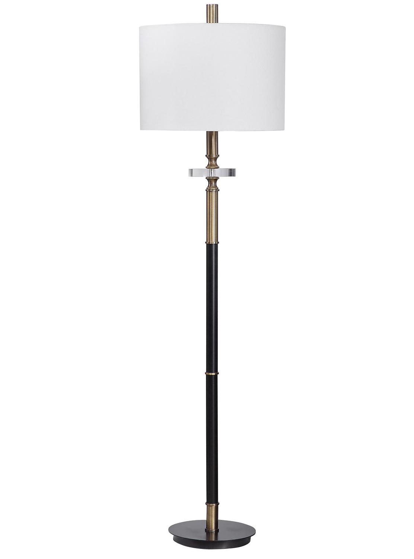 Uttermost Maud Floor Lamp - Aged Black