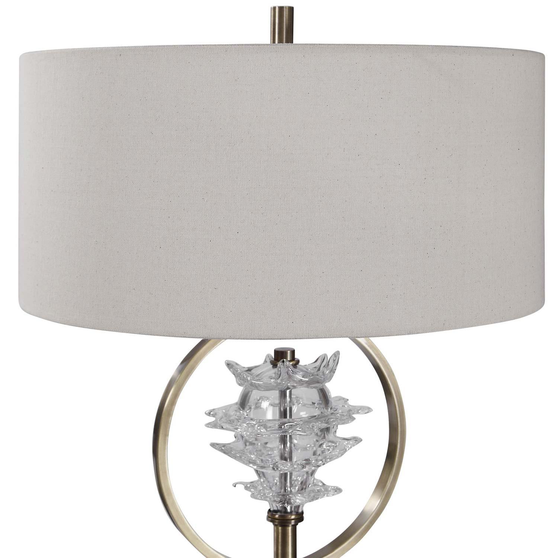 Uttermost Pitaya Floor Lamp - Antique Brass