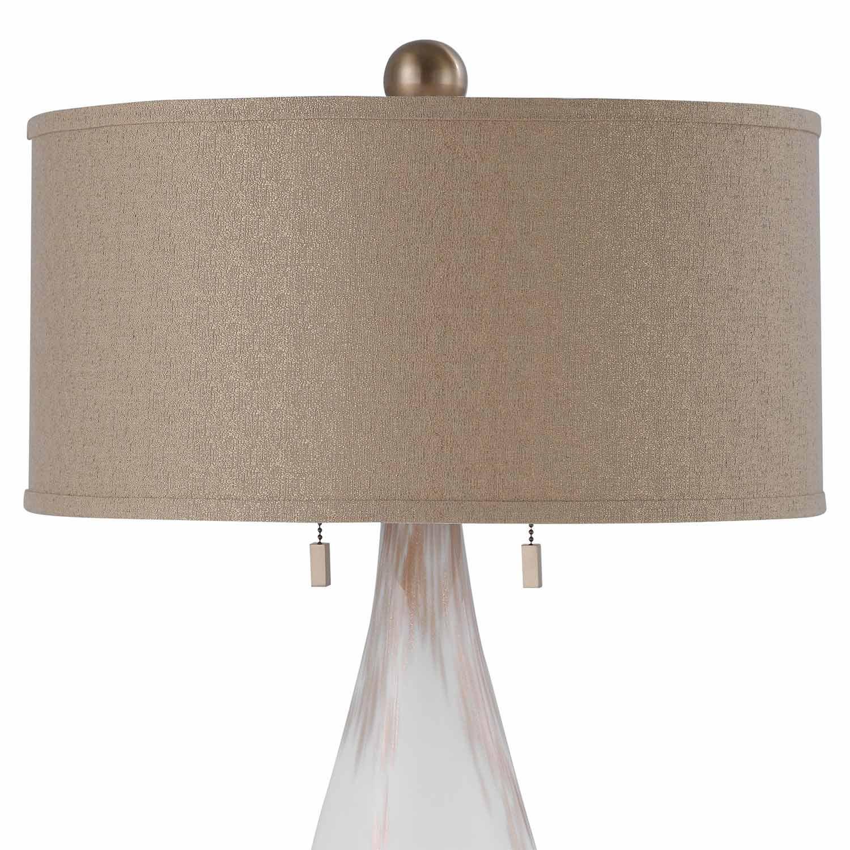 Uttermost Cardoni Glass Floor Lamp - White
