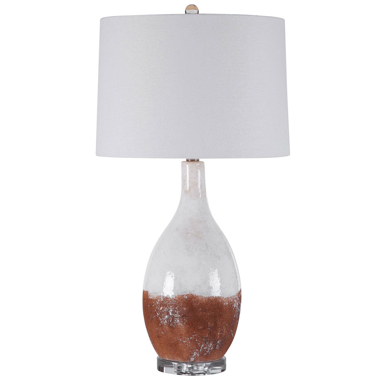 Uttermost Durango Table Lamp - Rust White