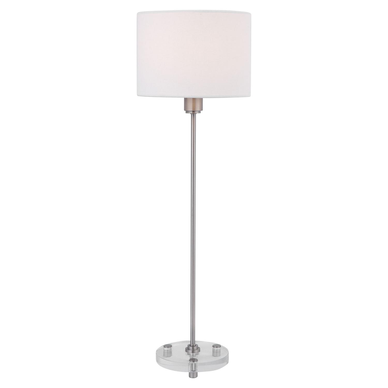 Uttermost Wick Buffet Lamp - Nickel