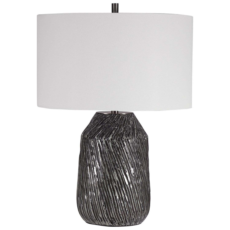 Uttermost Malaya Graphic Table Lamp - Black