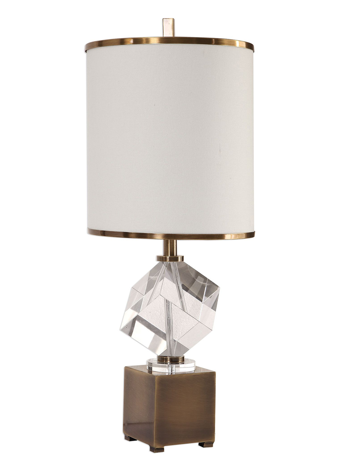 Uttermost Cristino Crystal Cube Lamp