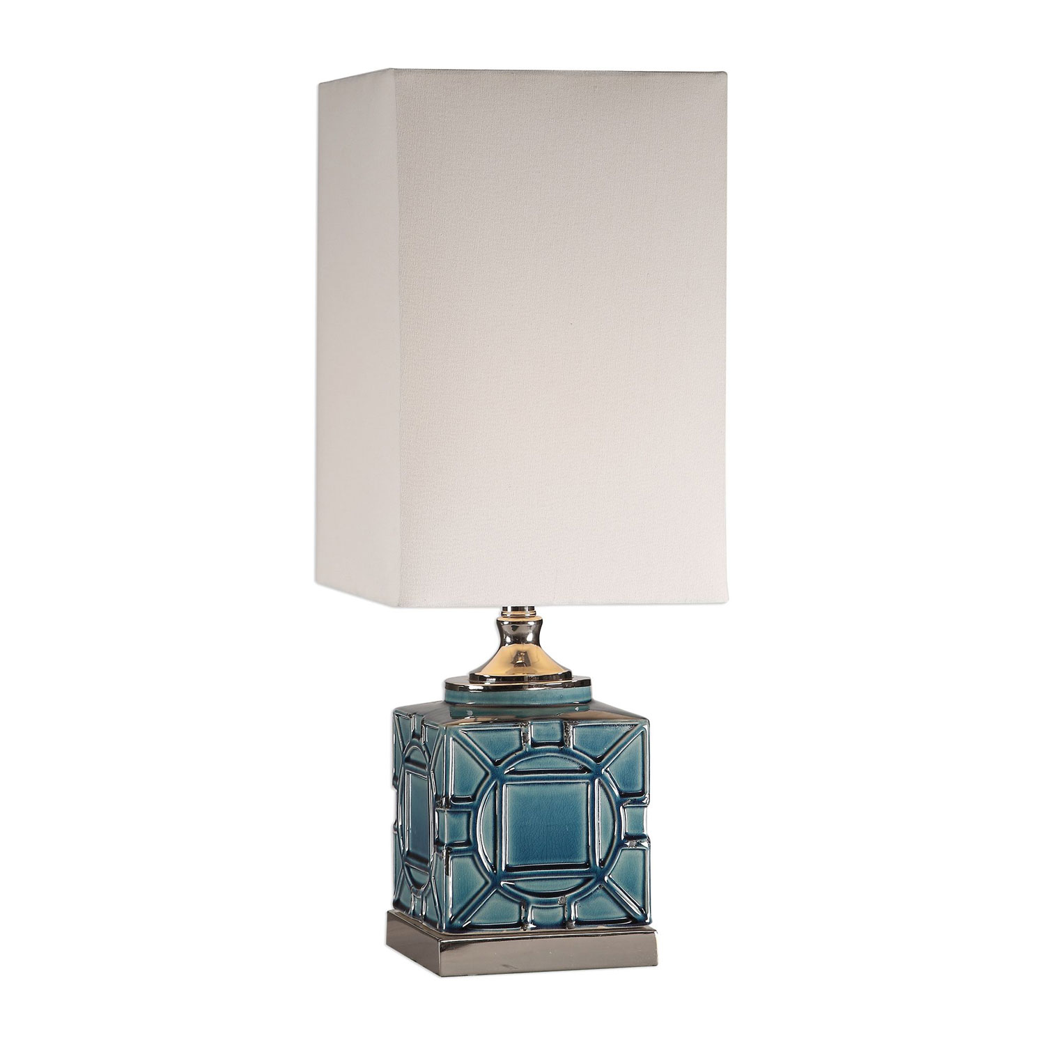 Uttermost Pacorro Lamp - Crackled Blue