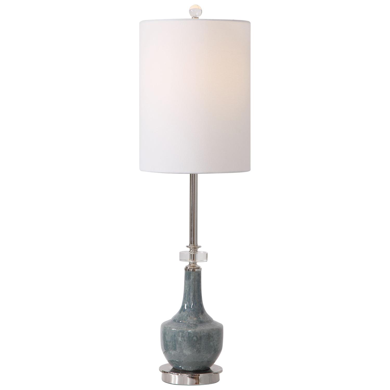 Uttermost Piers Buffet Lamp - Mottled Blue