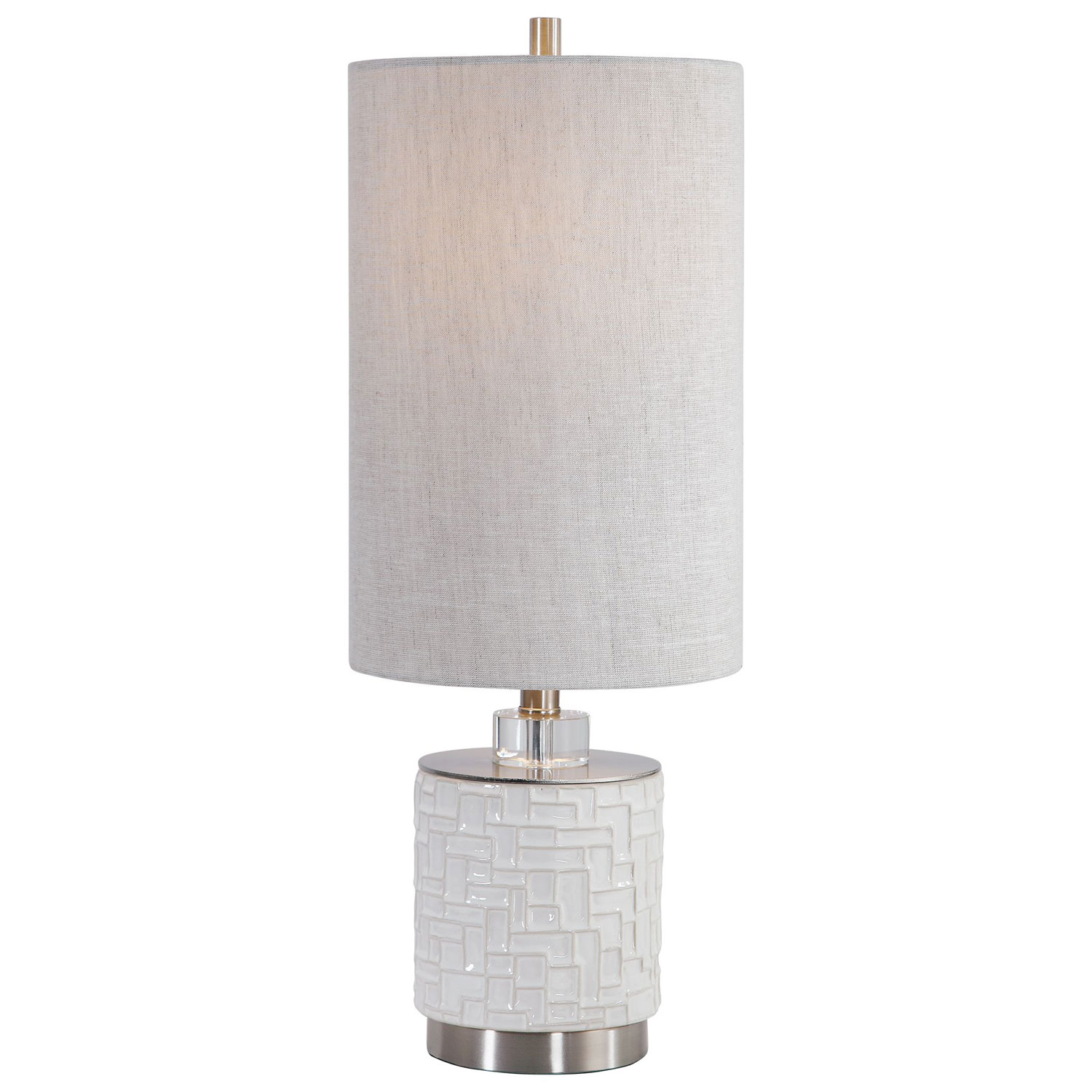 Uttermost Elyn Accent Lamp - Glossy White