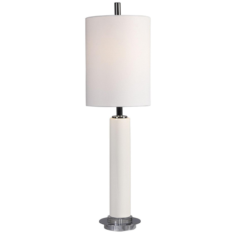 Uttermost Windsor Crackle Buffet Lamp - Ivory