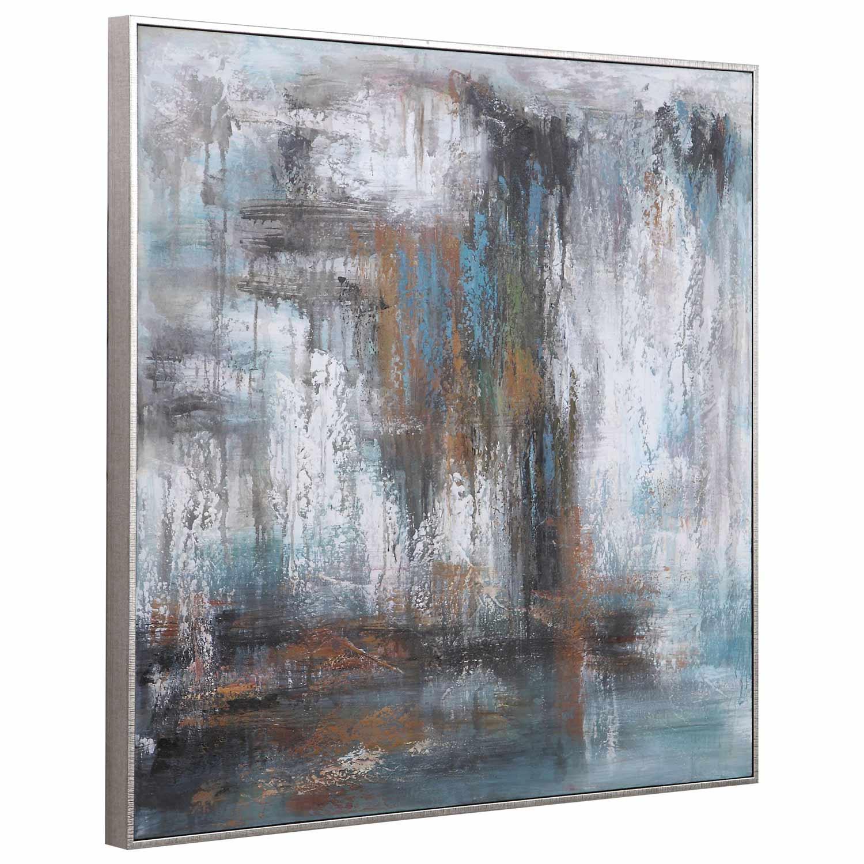 Uttermost Downpour Hand Painted Canvas