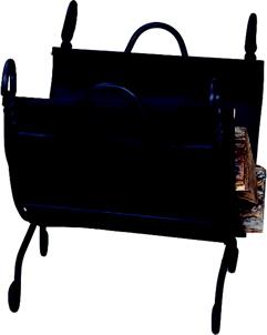UniFlame Ring Swirl Black Log Rack With Canvas Carrier-Uniflame
