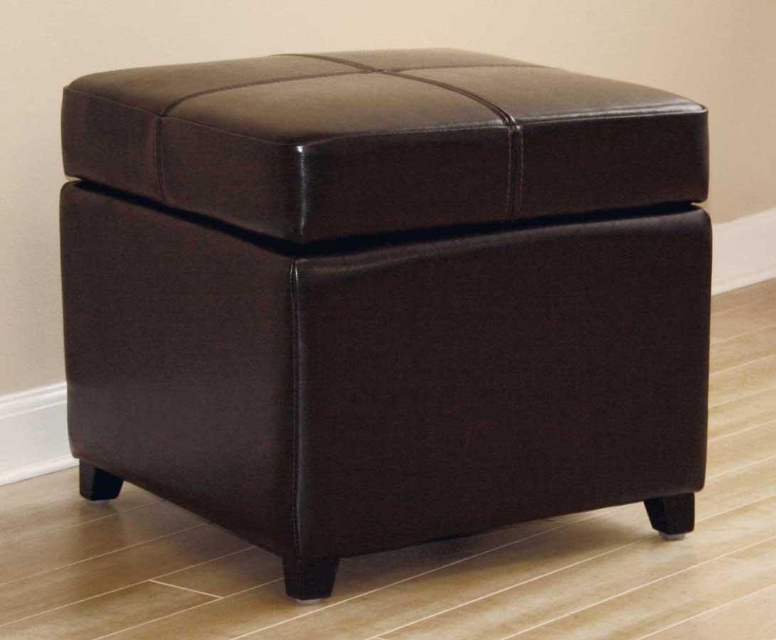 Wholesale Interiors 0380 Full Leather Ottoman