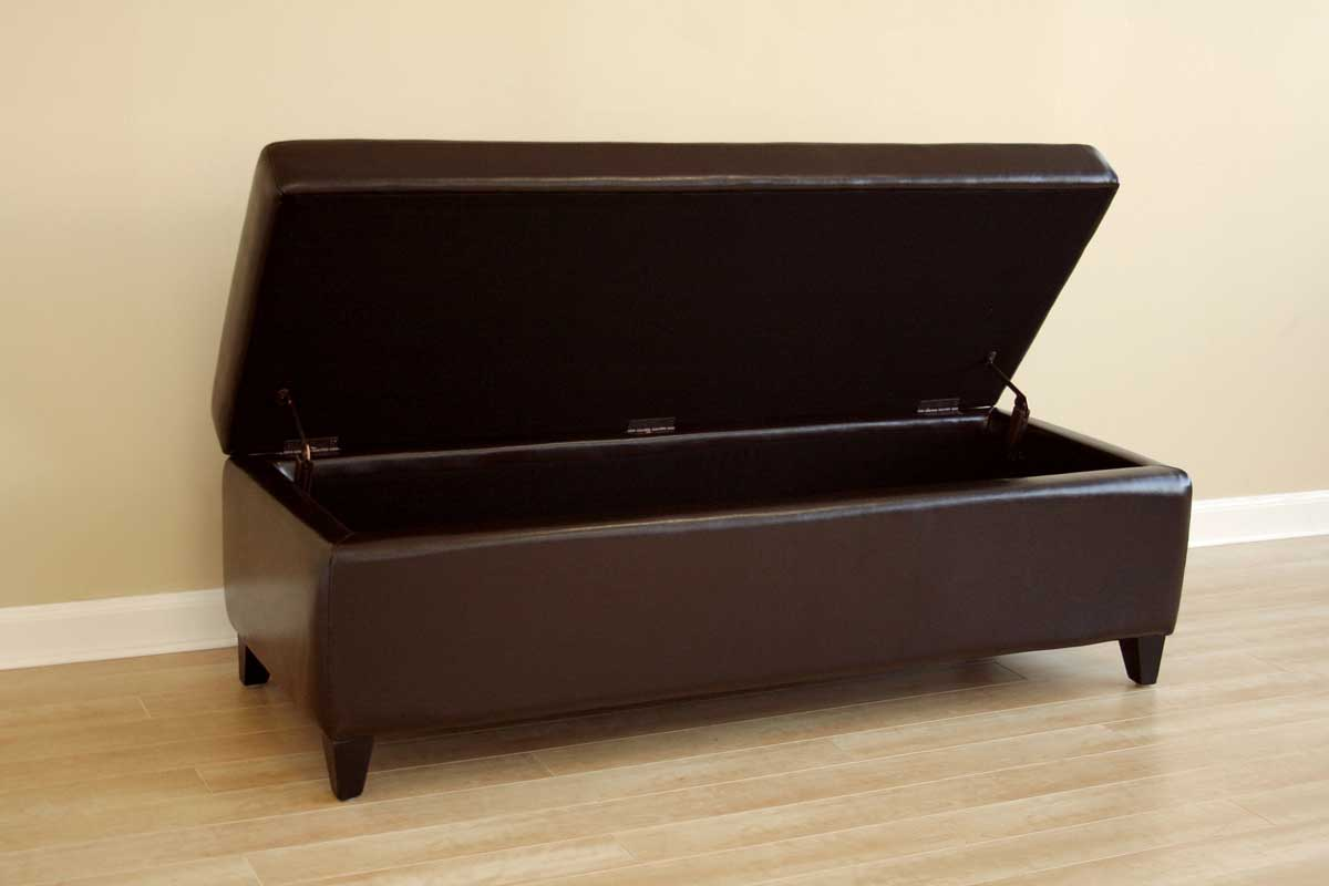 Wholesale Interiors 125 Full Leather Bench