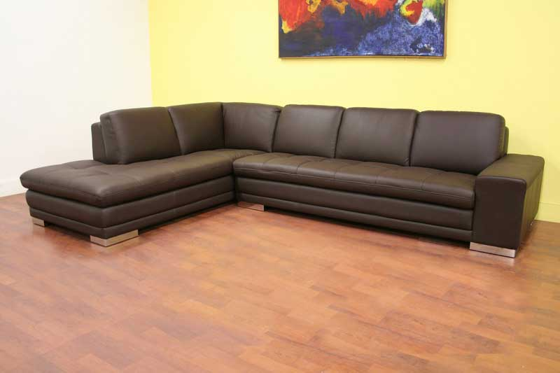 Wholesale Interiors Callidora Leather Sectional Sofa - Reverse