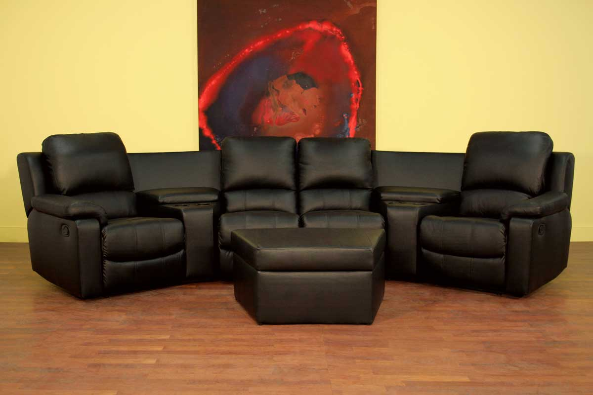 Wholesale Interiors 8802 Home Theater Seat Curved Row