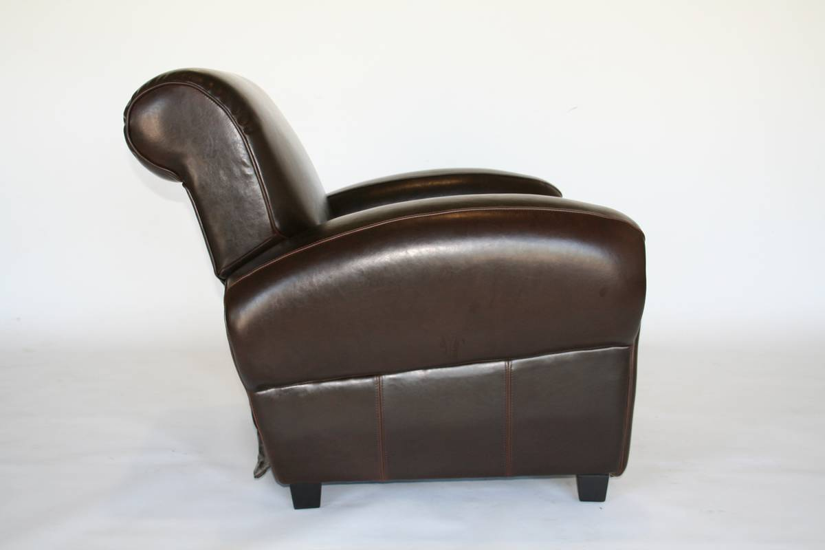 Cheap Wholesale Interiors A-136-J001 Full Leather Club Chair
