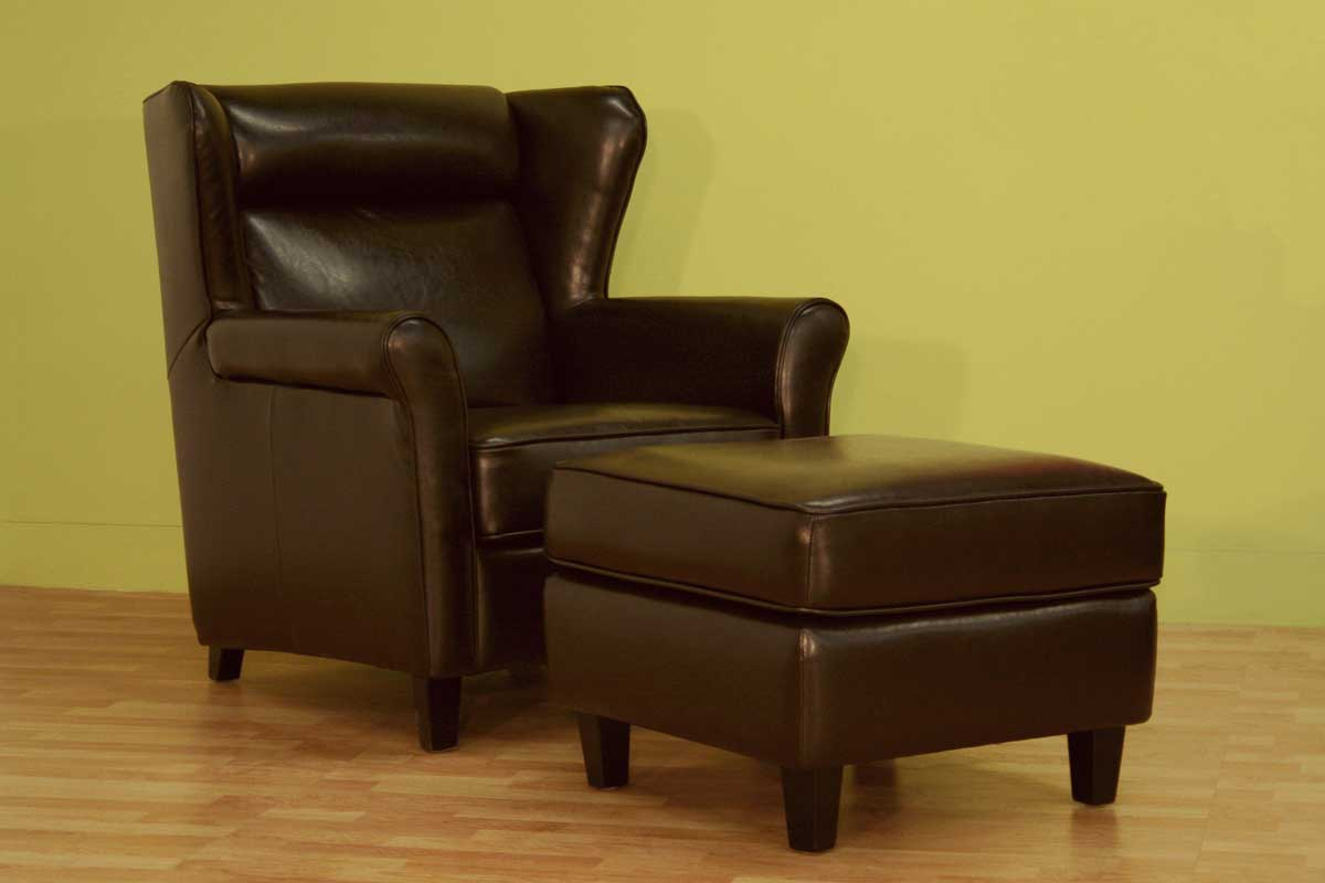 Wholesale Interiors A-393 Club Chair with Ottoman