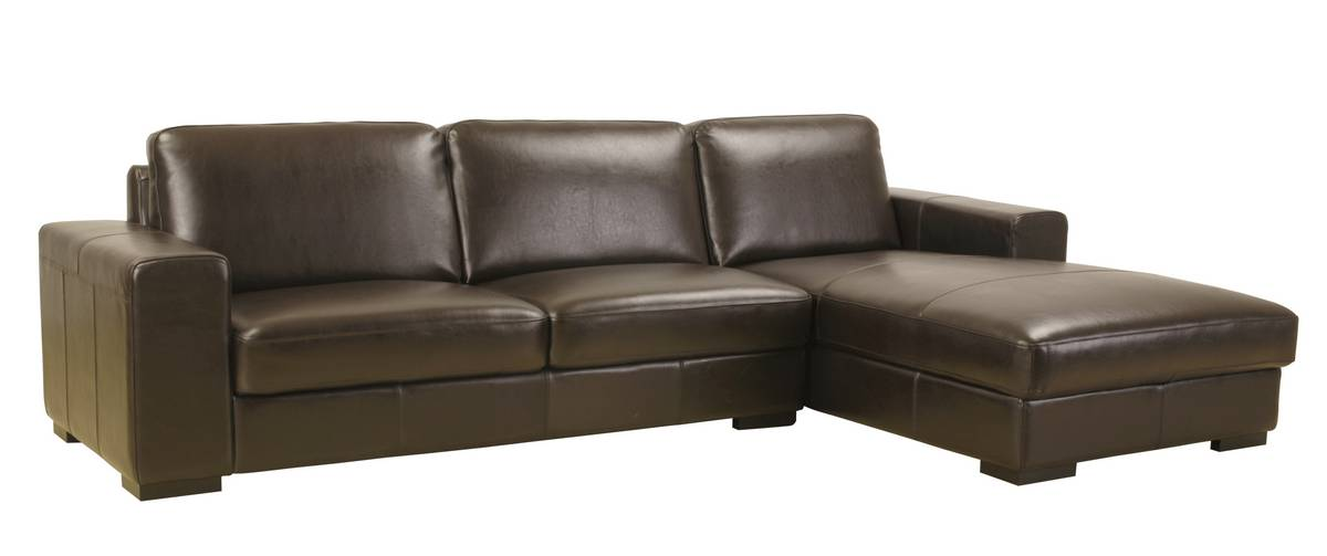 Buy abbyson living cosmopolitan functional sectional for Bella chaise dark brown