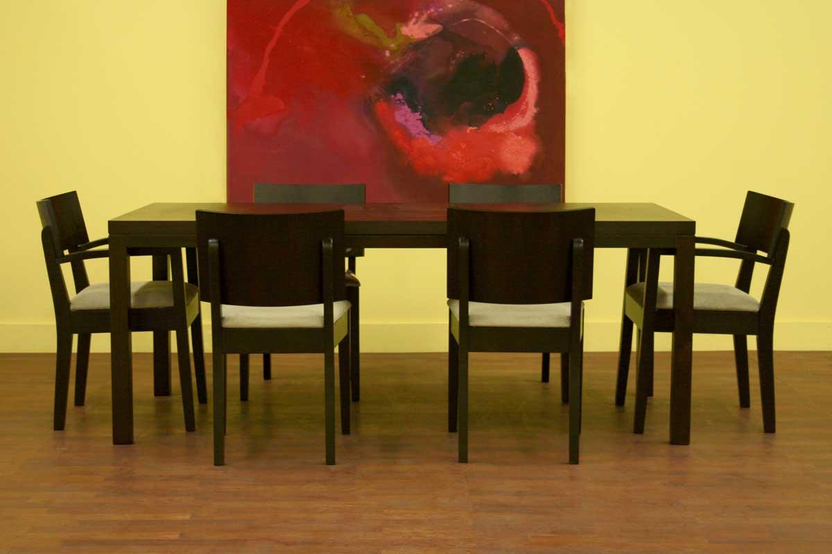 Wholesale Interiors Corrina Wenge Dining Table Set