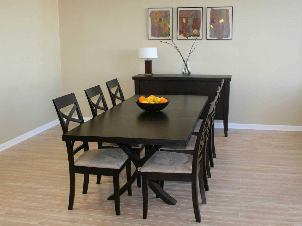 Wholesale Interiors Colombo Wenge Dining Table Set