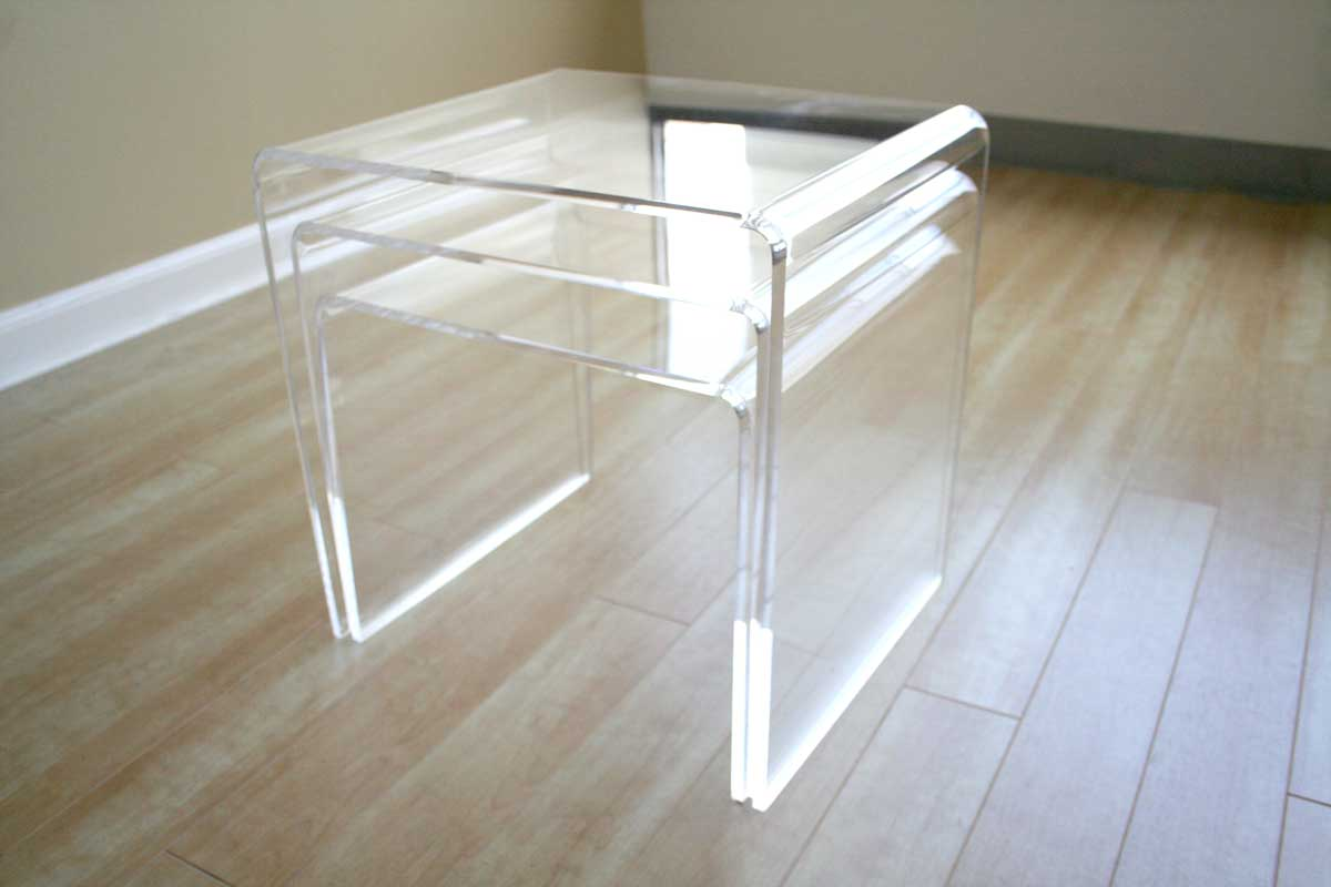 Wholesale Interiors FAY-510 White Nesting Table