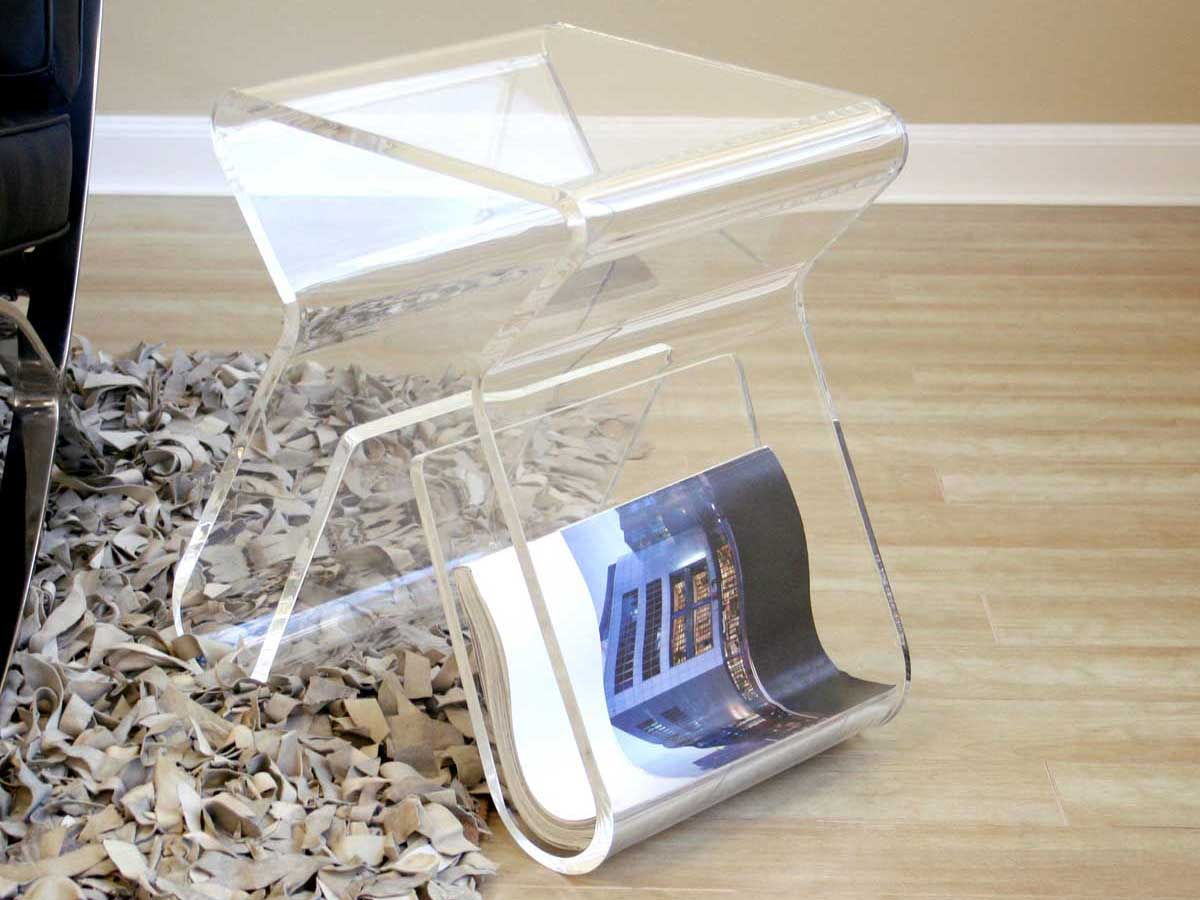 Wholesale Interiors FAY-8196 Clear End Table