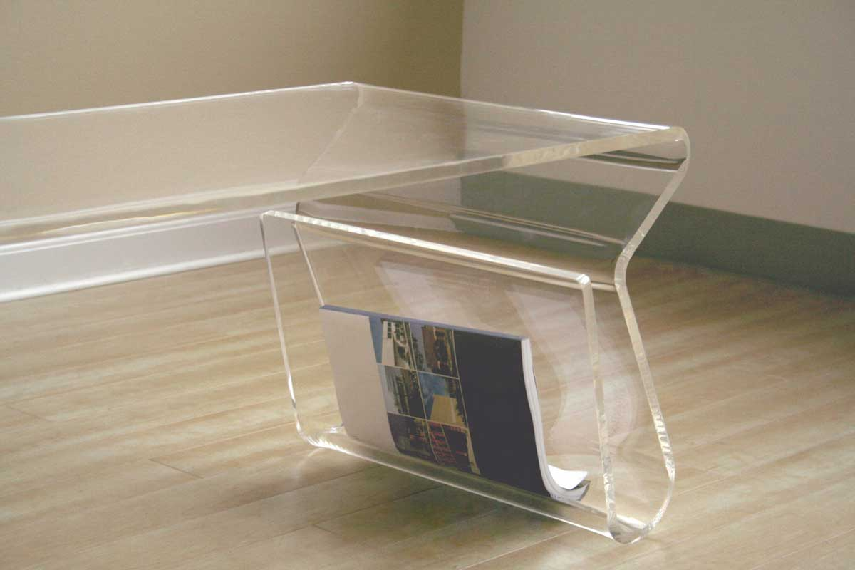 Wholesale Interiors FAY-9948 Clear Coffee Table