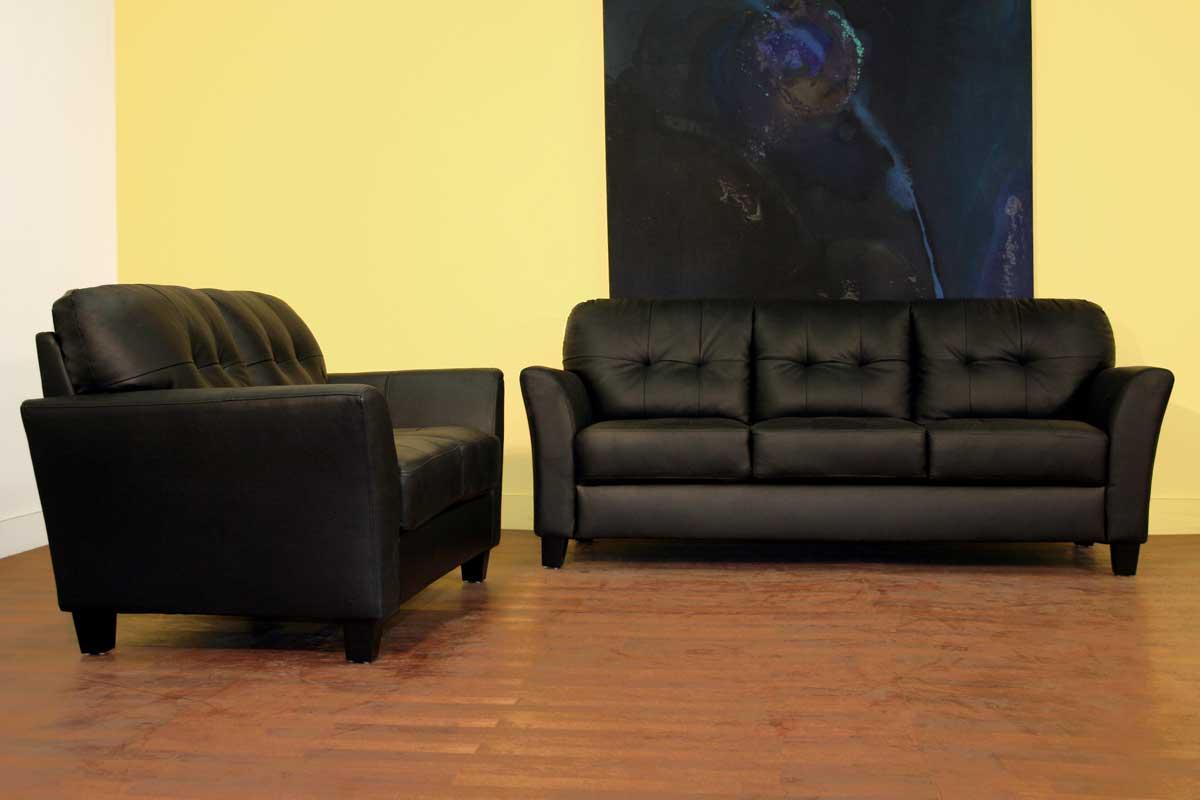 wholesale interiors lf48 black leather sofa set lf48 sofa