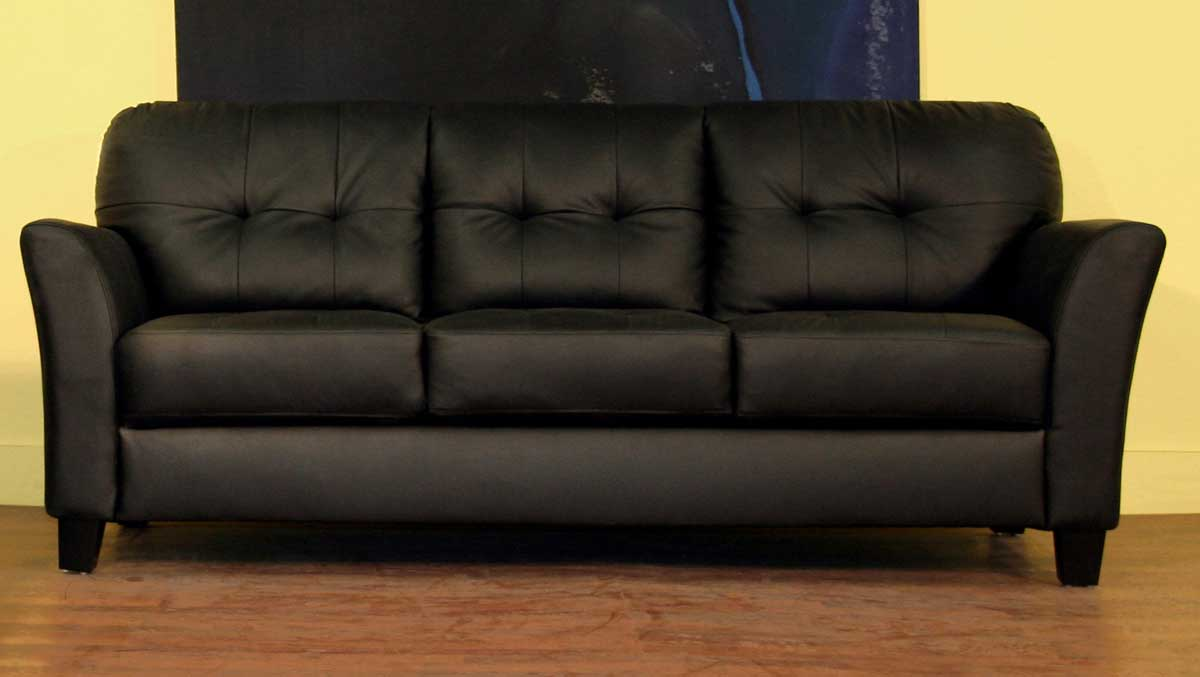 Wholesale Interiors Lf48 Black Leather Sofa Set Lf48 Sofa Set At