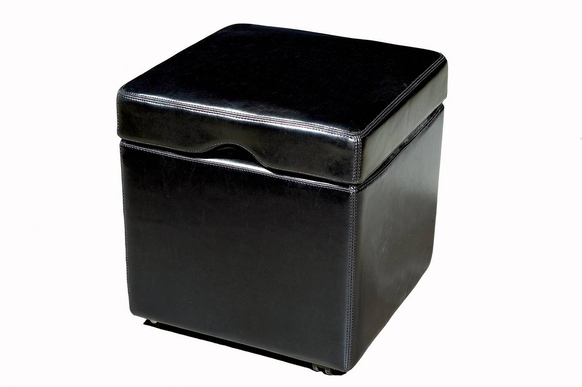OMY-165 Full Leather Storage Cube Ottoman-Wholesale Interiors