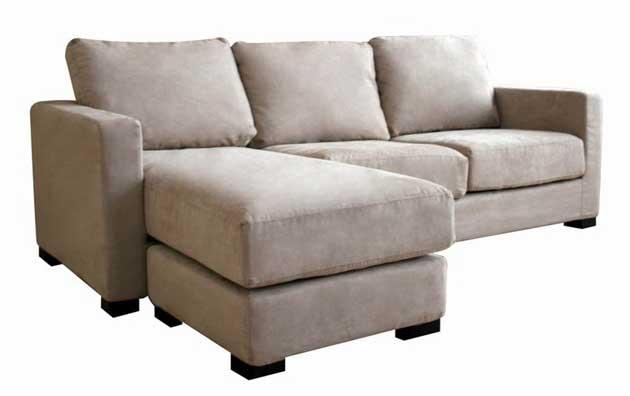 Wholesale Interiors Tan Microfiber Sectional Sofa