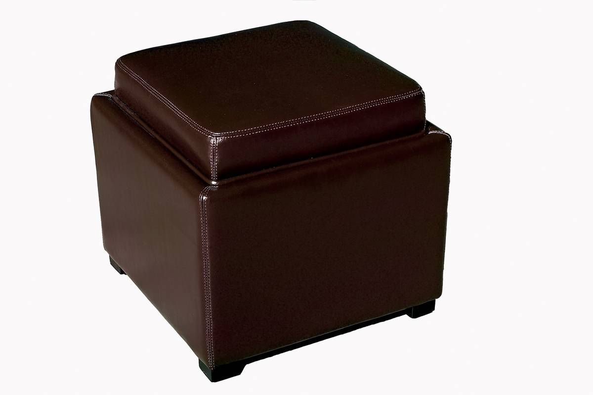 Cheap Wholesale Interiors Y-063 Full Leather Storage Ottoman