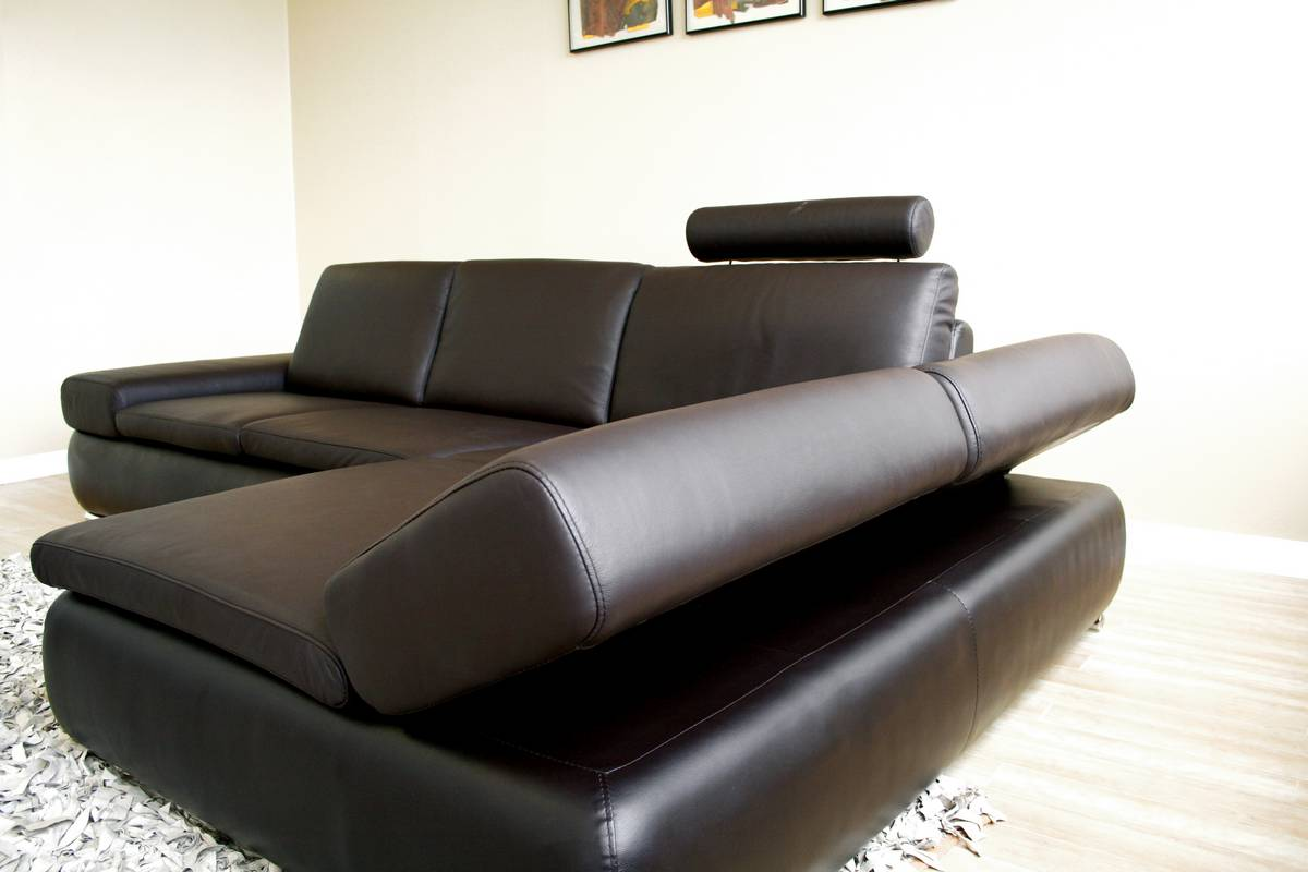 Wholesale Interiors Champagne Leather Sectional Recliner Champagne ...