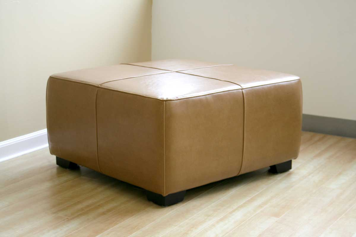 Wholesale Interiors Y-052 Leather Ottoman