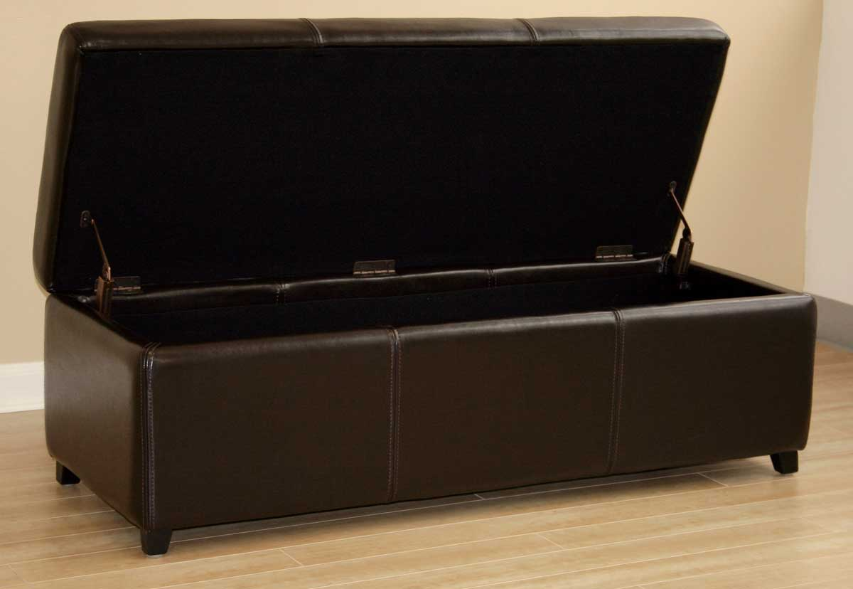 Wholesale Interiors Y-161 Leather Ottoman