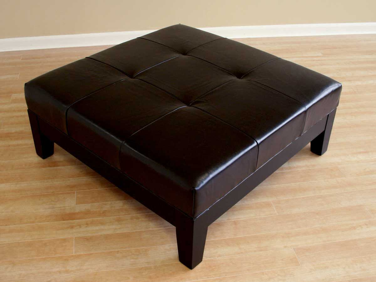 Wholesale Interiors Y-195 Leather Ottoman