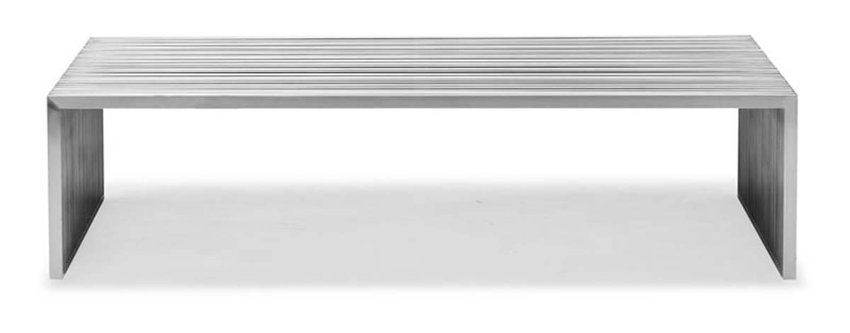 Zuo Modern Novel Long Coffee Table - Stainless Steel